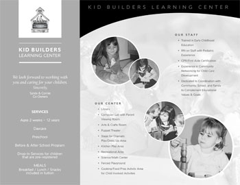 Kid Builders Brochure